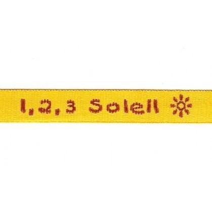 """ruban tissé """"1,2,3 soleil"""""""