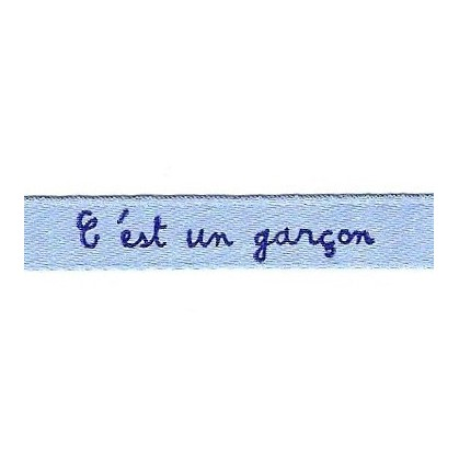 "ruban satin ""c'est un garçon"""