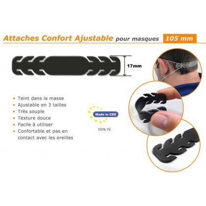 attache confort ajustable pour masques