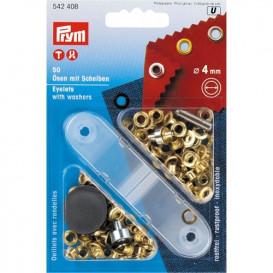 50 oeillets avec outil de pose 4mm