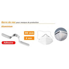 barre de nez aluminium adhésive pour masque