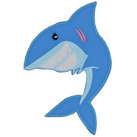 écusson requin thermocollant