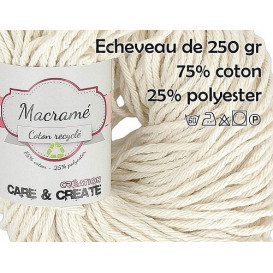 écheveau macramé coton recyclé 250gr