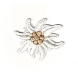 écusson fleur edelweiss 4cm thermocollant