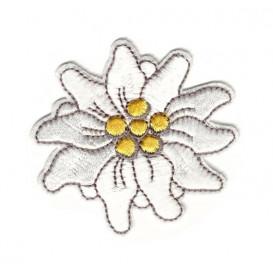écusson fleur edelweiss 6cm thermocollant