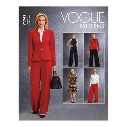 patron veste, haut, robe, pantalon Vogue V1741