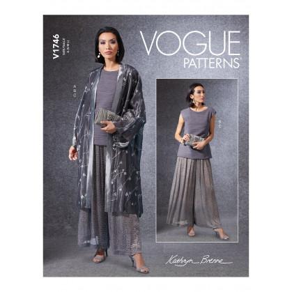 patron kimono, haut, pantalon Vogue V1746