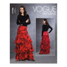 patron jupe Vogue V1740