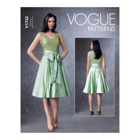 patron jupe Vogue V1732