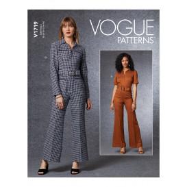 patron combinaison et ceinture Vogue V1719