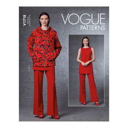 patron veste, tunique, pantalon Vogue V1718