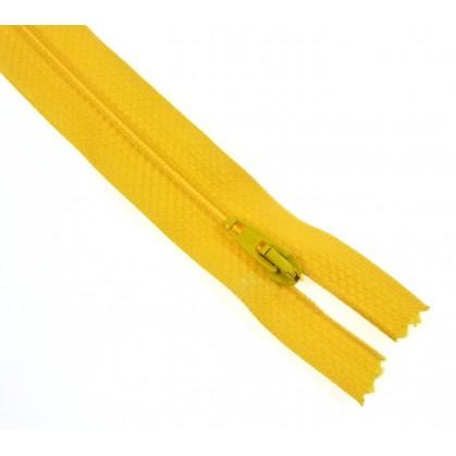 fermetures à glissières polyester jaune foncé