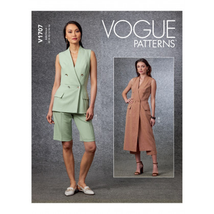 patron gilet, short, pantalon Vogue V1707