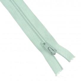 fermetures à glissières polyester bleu ciel
