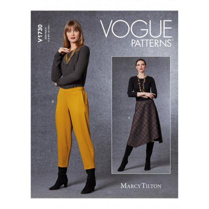 patron jupe et pantalon Vogue V1730
