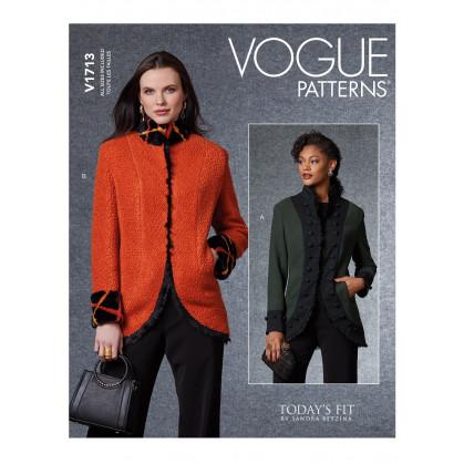 patron vestes Vogue V1713