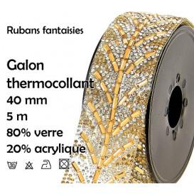bobine 5m ruban strass thermocollant 40mm