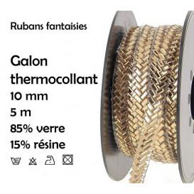 bobine 5m ruban strass or thermocollant 10mm