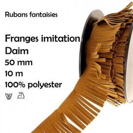bobine 10m frange imitation daim 50mm