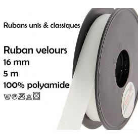 bobine 5m ruban velours 16mm