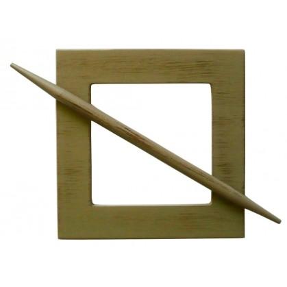 embrasse carr e en bois pour rideaux. Black Bedroom Furniture Sets. Home Design Ideas