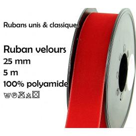 bobine 5m ruban velours 25mm