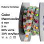 bobine 5m ruban strass multi thermocollant 6mm