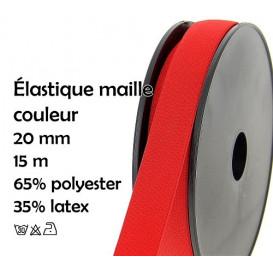 bobine 15m élastique maille couleur 20mm
