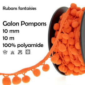 bobine 10m galon pompons 10mm