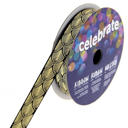 bobine de ruban celebrate satin écaille 10mm x 2m