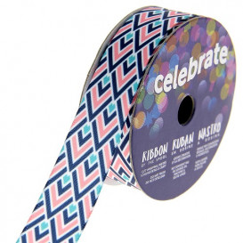 bobine de ruban celebrate satin chevron 15mm x 3m