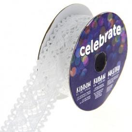 bobine de dentelle celebrate blanche 18mm x 2m