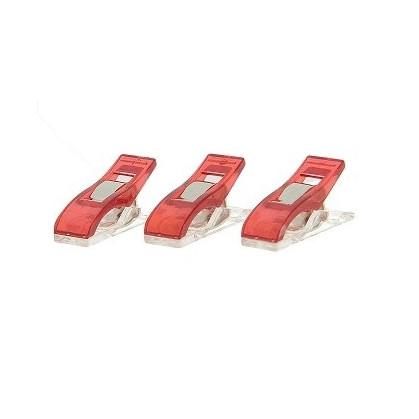 15 pinces pour tissus rouge 26mm