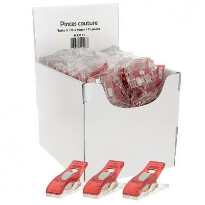 360 pinces pour tissus rouge 26mm