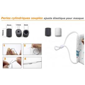 perle souple ajuste élastique pour masques