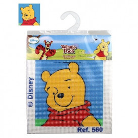 kit canevas disney tête winnie l'ourson