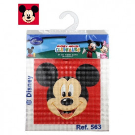 kit canevas disney tête de mickey rouge