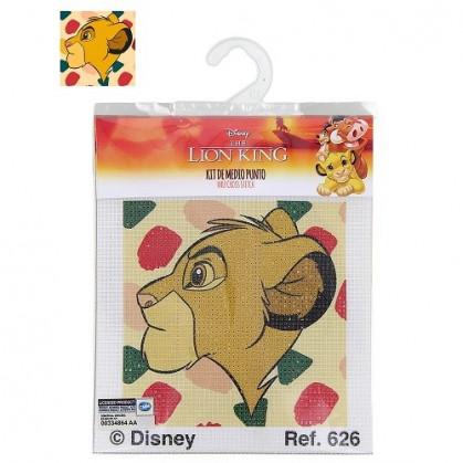 kit canevas disney le roi lion tête simba profil