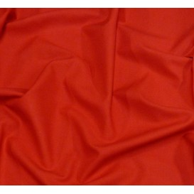 coupon 2,10m coton uni rouge