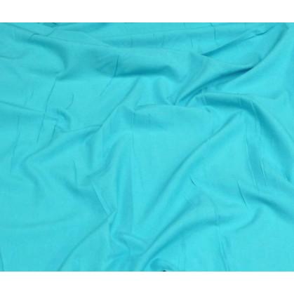 tissu coton uni turquoise clair largeur 150cm x 50cm