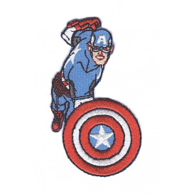écusson captain america attaque thermocollant