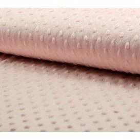 tissu velours minky pois rose clair largeur 140cm x 50cm