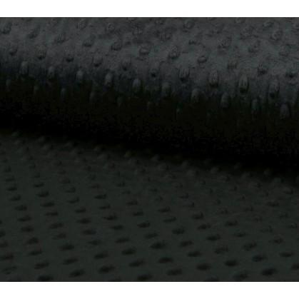 tissu velours minky pois noir largeur 140cm x 50cm