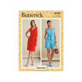 patron robe et barboteuse Butterick B6760
