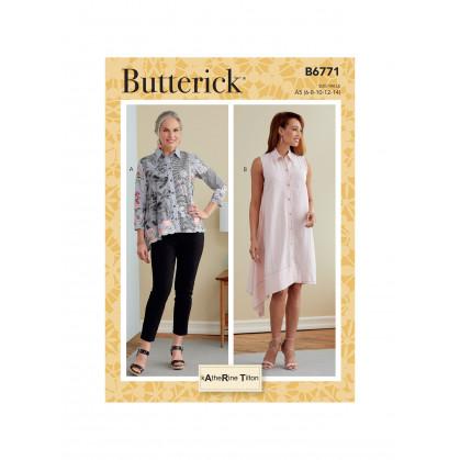 patron chemise et robe chemisier Butterick B6771