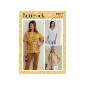 patron haut et ceinture-écharpe Butterick B6770