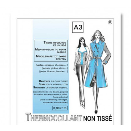 entoilage non tissé thermocollant tissus mi-lourds et lourds