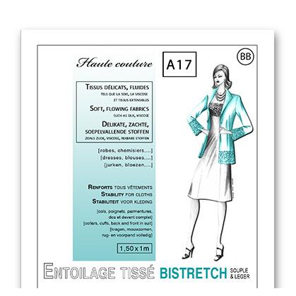 entoilage tissé bi-stretch thermocollant tissus délicats