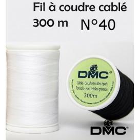 fil à coudre coton cablé DMC 300m n°40