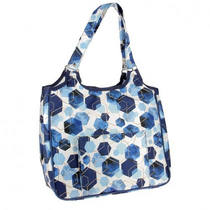 sac à ouvrages hexagone 35x25x30cm